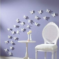 30 pcs DIY 3D Wall Sticker Butterflies Home Decor Room Decorations Decals Multi Colors Size 5.8cm Free Shipping