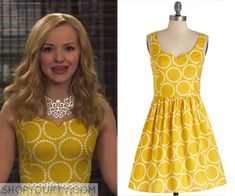 5772e6fcf8 Liv  amp  Maddie  Season 2 Episode 21 Liv s Yellow Circle Print Dress Liv  Rooney
