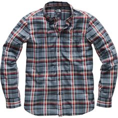 The North Face - Hayden Pass Long-Sleeve Shirt - Men's - Urban Navy Hubert Plaid Mens Flannel, Glen Plaid, Face Men, Plaid Pattern, Work Wear, Casual Shirts, The North Face, Long Sleeve Shirts