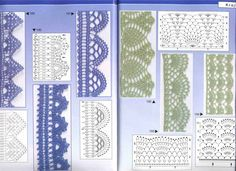 A group of crochet edges patterns.     wonderful crochet edges.