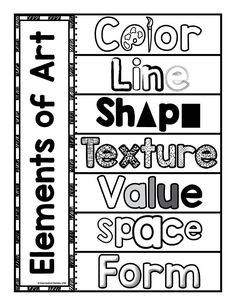 A possible sketchbook worksheet to teach the Elements of Art-Interactive Page. Use this page to create interactive flaps for students to put the definitions under each word. Reinforce the definitions of the Elements of Art through a hands on activity. Teaching Colors, Teaching Art, Middle School Art, Art School, High School, Classe D'art, Art Handouts, Art Worksheets, Ecole Art