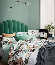 Green velvet headboard ~ swoon ~