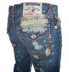 True Religion Mens Jeans Size 36 Straight with Flaps Super T in City Shadows NWT #TrueReligion #ClassicStraightLeg