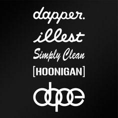 "JDM Sticker Pack Hoonigan Dapper 5x7"" Car Body Window Bumper Vinyl Stickers #Oracal"
