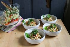 Crunchy Thai Salad with Peanut Dressing: United We Create Blog  8/14. This is fantastic!  The kids both loved it. And well see about DH.  86 shiracha! I doubled the dressing and used the vitamix, used cashew butter instead of pb, thinly sliced the npcabbage and only used 1/2 a small head, used the food processor for the carrots/cilantro/mint/ and added grilled chicken on top.  I would DOUBLE the recipe next time to accommodate for leftovers.  Yum!