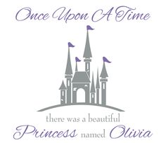 Baby Girl Wall Decal - Nursery Name Decal - Baby Girl Nursery & Girls Bedroom Wall Decal - Once Upon A Time Princess Wall Decal GN040 by FleurishWalls on Etsy https://www.etsy.com/listing/129970370/baby-girl-wall-decal-nursery-name-decal