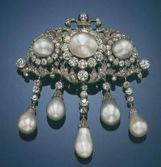 Pearl and Diamond Devant de Corsage of the Princly House of Thurn und Taxis