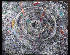 "Картина ""Москва"" - Марина Берулава,Живопись,абстракция,картина,спираль"