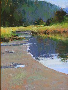 Salt Creek Reflections by Susan Ogilvie Pastel ~ 12 x 9