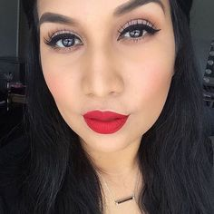 @meemscouture is looking red hot in our NEW Melted Matte Lipstick in shade Lady Balls! #regram #getmelted #toofaced