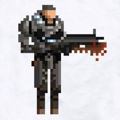 8-Bit Marcus from Gears of War. YEAH!!