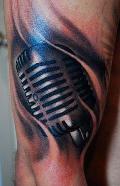 microphone tattoos | Microphone : Tattoos :