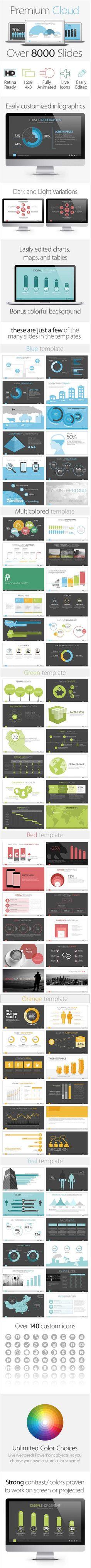 قوالب بوربوينت بريميوم Premium Cloud Business PowerPoint Templates - قوالب بوربوينت - قوالب تمبليت - تصاميم جاهزة