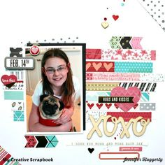 XOXO - Scrapbook.com - Used Crate Paper Hello Love and We R Memory Keepers Crushed Collections