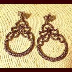 Antique silver earrings These earrings are so glam. I purchased them from another Posher to wear for a wedding but ended up going with a gold dress so they didn't work. Let me know if you'd like to bundle with the matching necklace! Jewelry Earrings