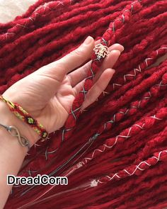 Red Faux Locs, Faux Dreads, Synthetic Dreadlocks, Wool Dreads, Dreadlocks Girl, Crochet Dreadlocks, Faux Locs Goddess, White Girl Dreads, Colored Dreads