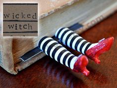 The ORIGINAL Wicked Witch Bookmark   Ruby Slippers by kiranichols, $21.00