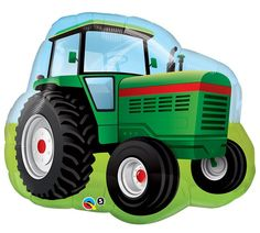 "Perfect compliment to your Tractor, Farm, or John Deere themed Party! + Listing includes (1) 34"" mylar SuperShape balloon, as pictured + Image is printed on both sides + Strings / Riboon are not inclu"