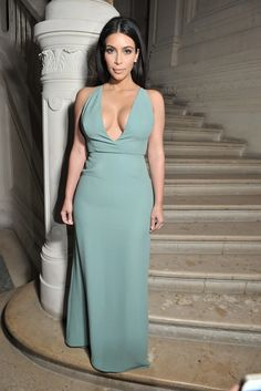 Kim Kardashian-West - Front Row at Valentino Couture Fall 2014