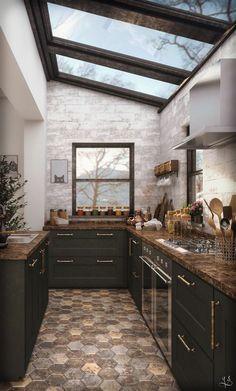 Breathtakingly Elegant Black Kitchen Ideas You ll Like DecorTrendy - Breathtakingly Elegant Black Kitchen Ideas You ll Like - Interior Design Minimalist, Interior Modern, Interior Design Kitchen, Interior Decorating, Decorating Kitchen, Apartments Decorating, Interior Home Decoration, Interior Ideas, Kitchen Interior Inspiration