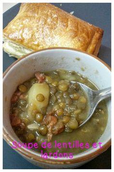Soupe de lentilles aux lardons / Cookéo