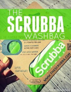 Introducing the Scrubba Washbag, a portable, lightweight product perfect for travelers!
