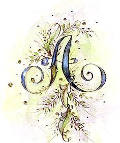 Victorian Illuminated Letter by heathervictoria on Etsy, $60.00