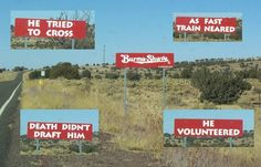 Burma Shave advertising signs