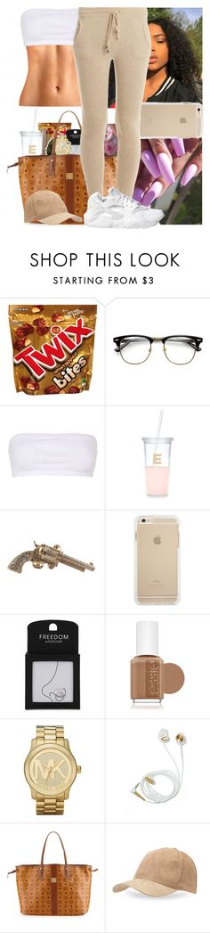 """""""❕❕❕"""" by msixo ❤ liked on Polyvore featuring Topshop, Kate Spade, Chanel, Essie, Michael Kors, MCM, BCBGeneration, Banjo & Matilda and NIKE"""