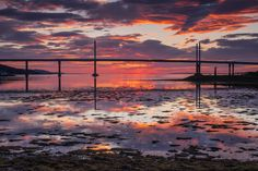 The Kessock Bridge as seen from South Kessock, Inverness.