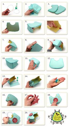 Samantha Walker's Imaginary World: Silhouette Tutorial: Circle Handle Purse Paper Shoes, Paper Purse, Crochet Coat, Purse Tutorial, Silhouette Projects, Silhouette Cameo, Cardmaking And Papercraft, Handbag Patterns, Diy Purse