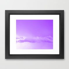 Purple Cotton Candy Clouds Framed Art Print