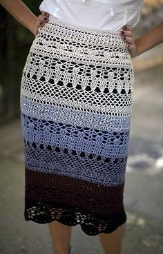 Click to view pattern for - Crochet skirt #tankdress