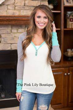 Can't Get Over You Aqua Blouse - The Pink Lily Boutique