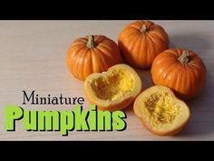 Miniature Pumpkins For Fall & Halloween - Polymer Clay Tutorial - YouTube