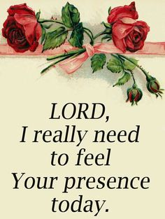 I do not know about you, but sometimes I can't feel God's presence in my day. I know He's there but if I could only feel Him a little bit more...