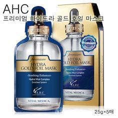 AHC Premium Hydra Gold Foil Mask Pack 25g 5pcs Anti-Aging Whitening K-Beauty #AHC