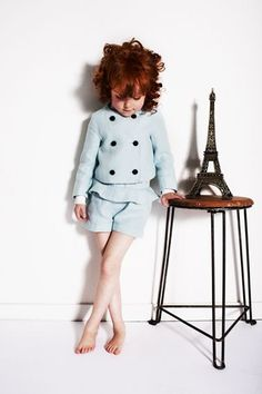 My Little Dress Up SS14 Pistachio linen tailoring for girls fashion summer 2014