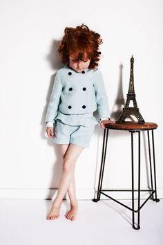 My Little Dress Up SS14 Pistachio linen tailoring for girls fashion summer 2014