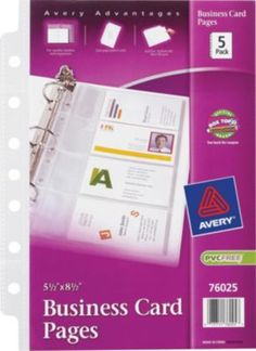 Avery mini binder filler paper 5 12 x 8 12 pinterest mini staples has the avery 5 12 x 8 12 business card pages you need for home office or business free delivery on all orders over 1999 plus rewards reheart Image collections