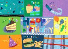 """Birthday Boy"" flexible vinyl placemat by Jill McDonald for Oopsy daisy, Fine Art for Kids $12"