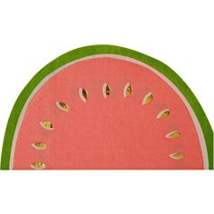 Meri Meri Watermelon Napkins ($8) ❤ liked on Polyvore featuring home, kitchen & dining, table linens, colored napkins and meri meri