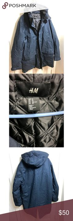XL Mens NWOT Brand New H&M Jacket Parka XL Mens NWOT Brand New H&M Navy Blue Jacket Parka ........    willing to give a discount because it does come with Security tag, even though most of you know how to take it off or will YouTube it lol if I take it off the price will be firm H&M Jackets & Coats Performance Jackets