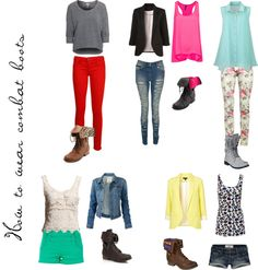 """""""how to wear combat boots"""" by katygrocks on Polyvore"""