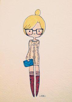 Customized Illustrated Portrait!! :)   http://etsy.com/shop/catplusmouse