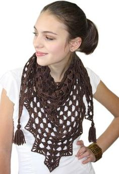Pretty Triangle Crochet Scarf... I may use this pattern to make myself a belly dance hip scarf.