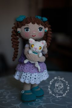 Muneca Alexa was the first doll I tried from Petus youtube channel . She is a mexican crochet doll designer, but unfortunately her channel ...