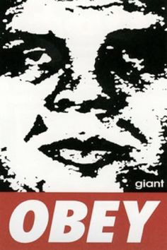 Shepard Fairey, Griny Obey, Screen-print on paper, 24 x Extreme closeup allows for focus on facial proportion. Shepard Fairey Art, Social Justice Topics, Obey Art, Facial Proportions, Andre The Giant, Trump Protest, New Poster, Street Art Graffiti, Street Artists