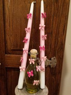 Baptism Candle, Ladder Decor, Greek, Candles, Home Decor, Decoration Home, Room Decor, Candy, Candle Sticks