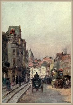 Barton, Rose (1856-1929) - Familiar London 1904, Brompton Road, looking east. #vintage, #london